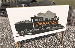 CDE Chattanooga Choo Choo Sign Board